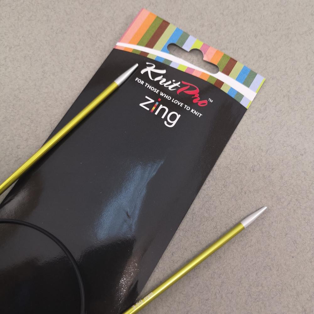 Круговые спицы Knitpro Zing 80 см
